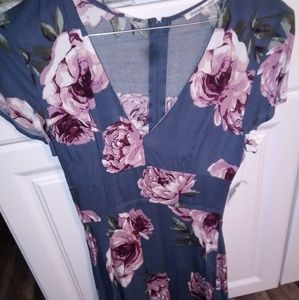 Charlotte Russe floral dress size xs